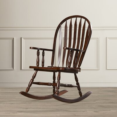 Rosalind Wheeler Dollison Rocking Chair with Arms