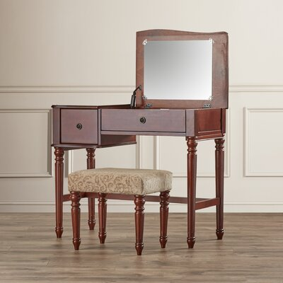 Rosalind Wheeler Champney Vanity Set with Mirror
