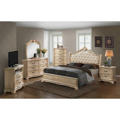 Rosalind Wheeler Barrell 2 Drawer Nightst..