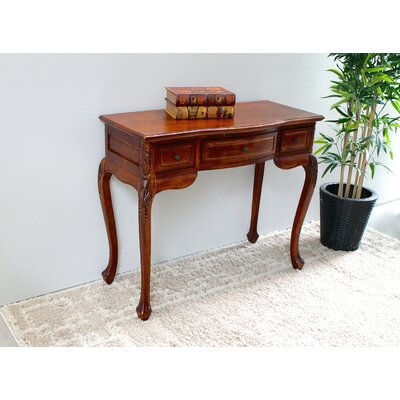 International Caravan Windsor Hand Carved Wood Indoor Vanity Desk