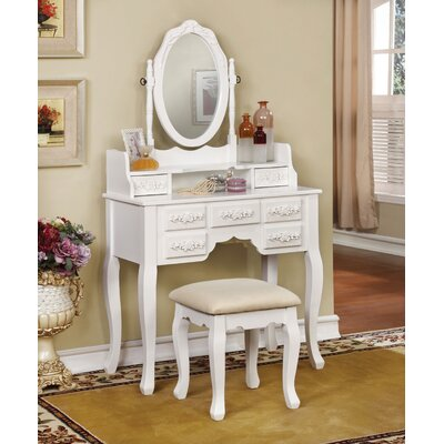 Rosalind Wheeler Totteridge Vanity Set with Mirror