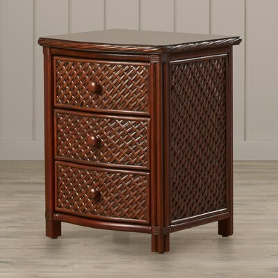 Bay Isle Home Oliver 3 Drawer Nightstand