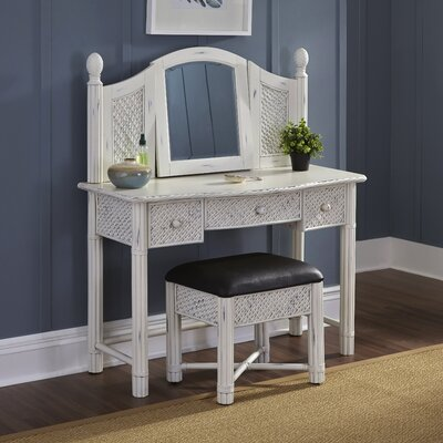 Bay Isle Home Oliver Vanity Set with Mirror
