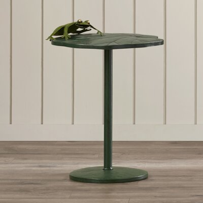Bay Isle Home Cao Frog Climbing Lotus Side Table