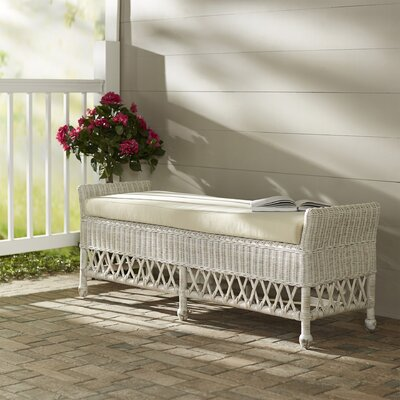 Bay Isle Home Winchendon Wicker Bench
