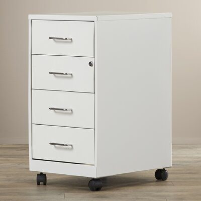 Symple Stuff 4 Drawer Steel Mobile File C..