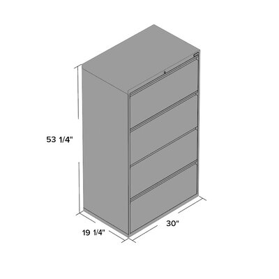 Symple Stuff 4 Drawer Lateral File Cab..