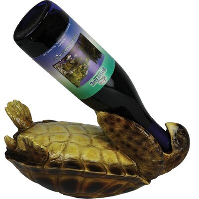 Rivers Edge Sea Turtle 1 Bottle Tabletop Wine Rack