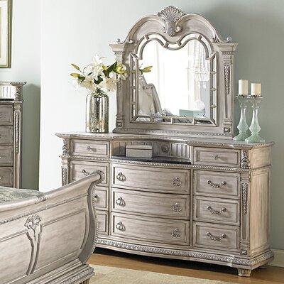 Astoria Grand 11 Drawer Dresser with Mirror