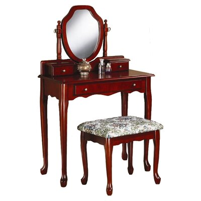 Astoria Grand Craigmillar Vanity Set with Mirror Image