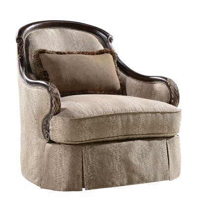Astoria Grand Izaak Swivel Arm Chair