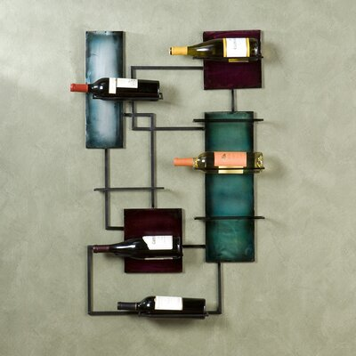 World Menagerie Sequeira 8 Bottle Wall Mounted W..