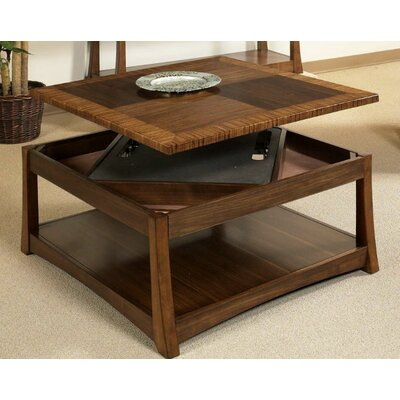 World Menagerie Andover Dual Coffee Table with Dual Lift-Top