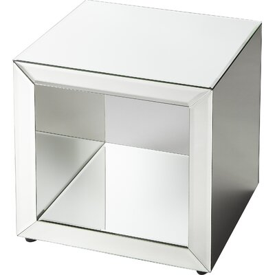 Mercer41 Seraphin Mirrored Cube End Table