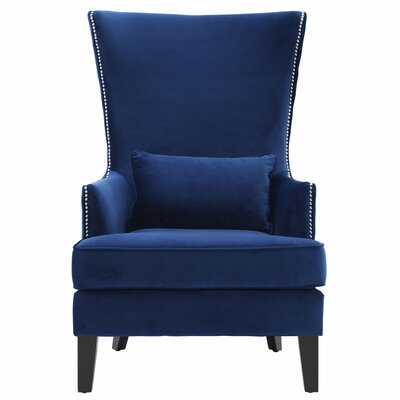 Mercer41 Bernadine Velvet Tall Arm Chair