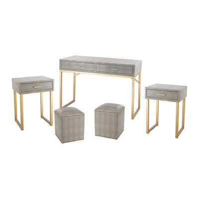 Mercer41 Koehn 5 Piece Coffee Table Set