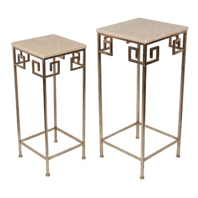 Mercer41 Calonne 2 Piece Marble Nesting Tables