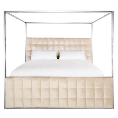 Mercer41 King Upholstered Canopy Bed