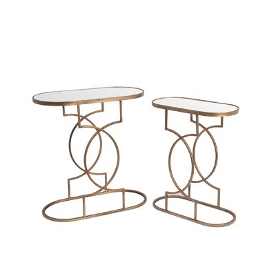 Mercer41 Conisbrough 2 Piece End Table Set
