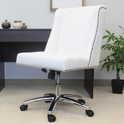 Mercer41 Kirkby Lonsdale Mid-Back Velvet Desk Chair