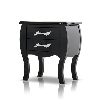 Mercer41 Beckett 2 Drawer Nightstand
