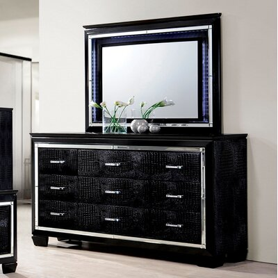 Mercer41 Errol 9 Drawer Dresser with Mirror