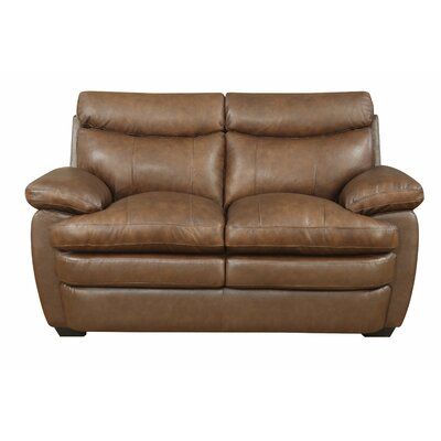 Darby Home Co Millwood Leather Loveseat