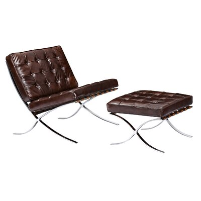 NyeKoncept Mies Side Chair and Ottoman