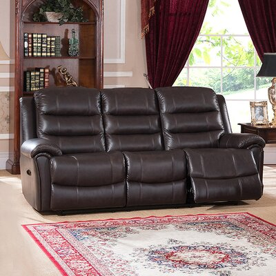 Amax Astoria Leather Reclining Sofa