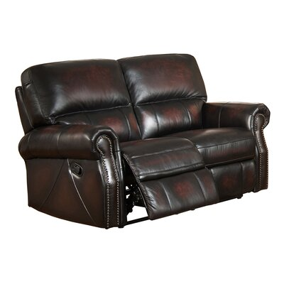 Amax Nevada Leather Loveseat Recliner