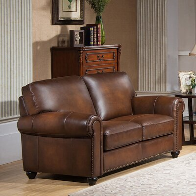 Amax Aspen Leather Loveseat