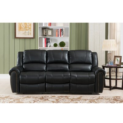 Amax Houston Leather Reclining Sofa
