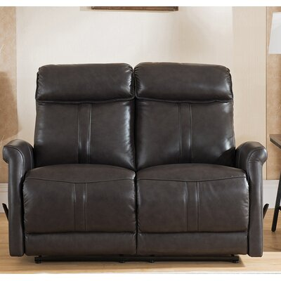 Amax Mosby Leather Reclining Loveseat