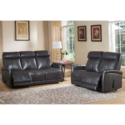Amax Mosby Leather Sofa and Loveseat Set