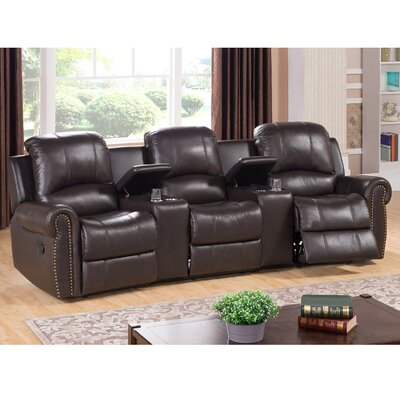 Amax Bloomington Leather Home Theater Rec..