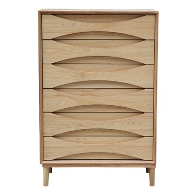 Kardiel Vodder Tall Boy 6 Drawer Chest