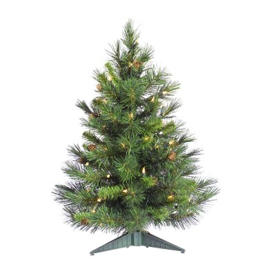 Cheyenne 3' Green Artificial Christmas Tree with 100 Clear Lights