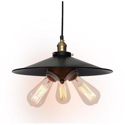 Westmen lights urban industrial 3 light kitchen island for Wayfair industrial lamp