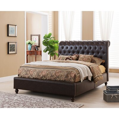 Living In Style Venice Upholstered Panel Bed