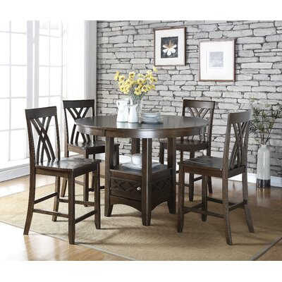 Living In Style Ashley 5 Piece Counter Height Dining Table Set