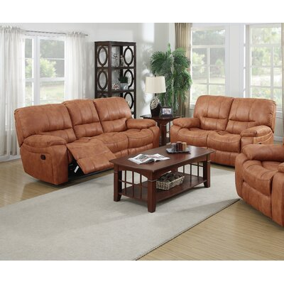 Living In Style Orleans 2 Piece Bonded Leather Living Room Set