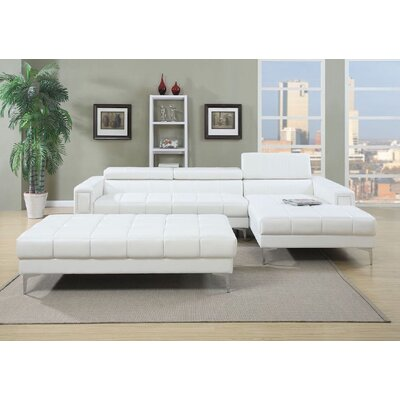 Infini Furnishings Sectional and Ottoman Set