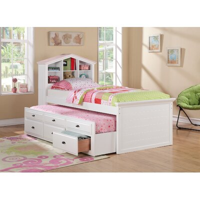 Infini Furnishings Twin Captain Bed with Trundle and Storage