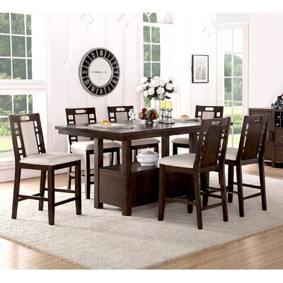 Infini Furnishings Amable 7 Piece Counter Height Dining Set