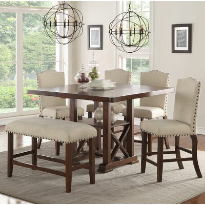Infini Furnishings Amelie II 6 Piece Counter Height Dining Set