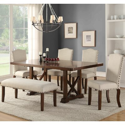 Infini Furnishings Amelie II 6 Piece Dining Set