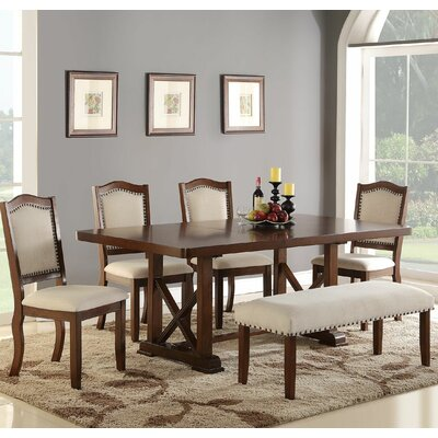 Infini Furnishings Amelie 6 Piece Dining Set
