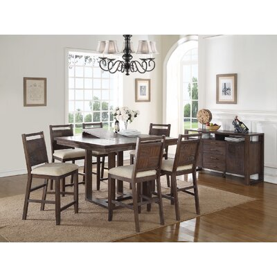 Infini Furnishings Carolle 7 Piece Counter Height Dining Set