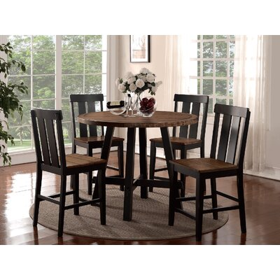 Infini Furnishings Dianne 5 Piece Counter Height Dining Set