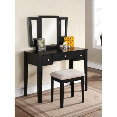 Infini Furnishings Eve Vanity Set with Mirror